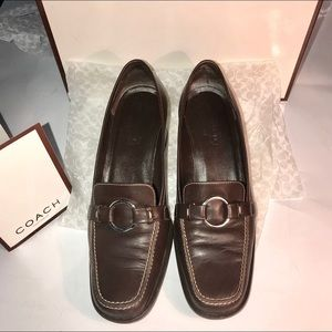 Coach shoes-Ring loafer stacked heel 7 Italian